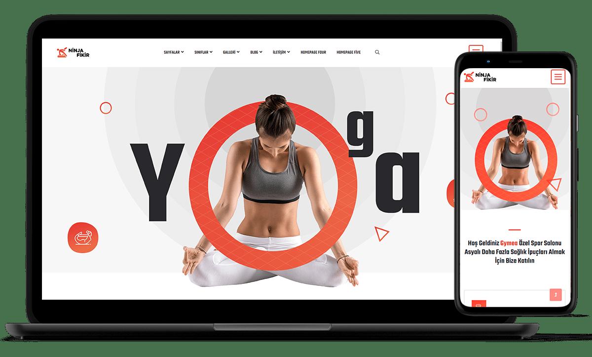 ninjafikir demo siteler yoga fitness